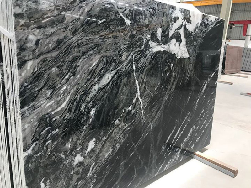 Polished Vintage Black Granite Black Polished Slabs