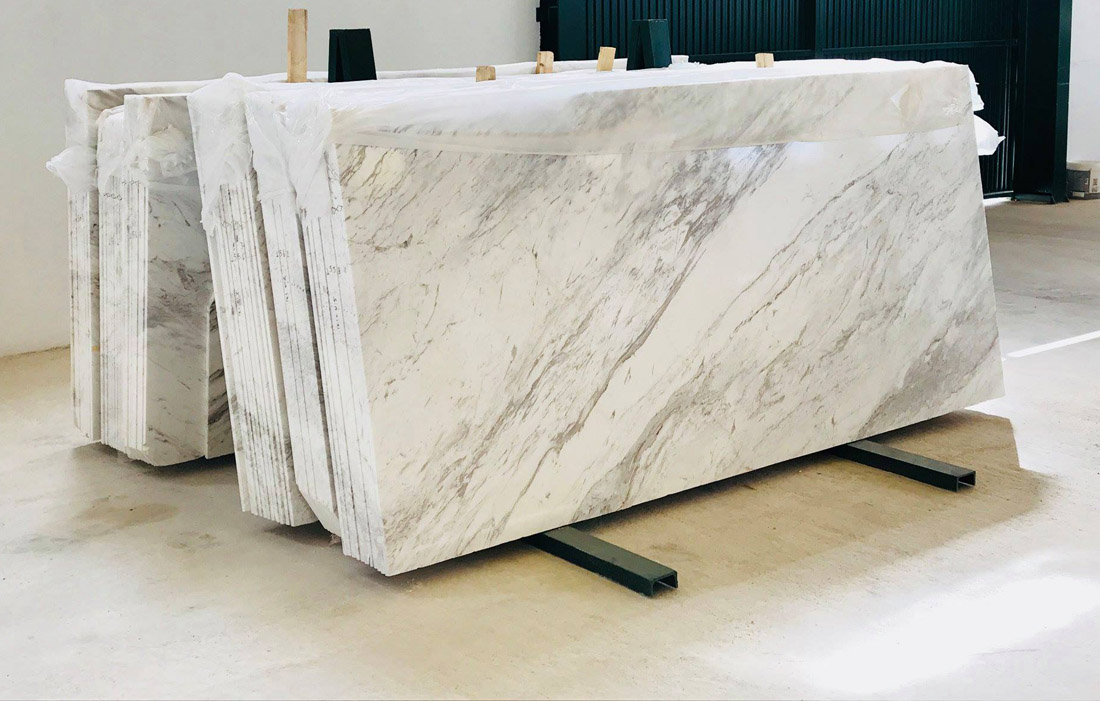 Polished Volakas Marble Slabs from Spain Supplier