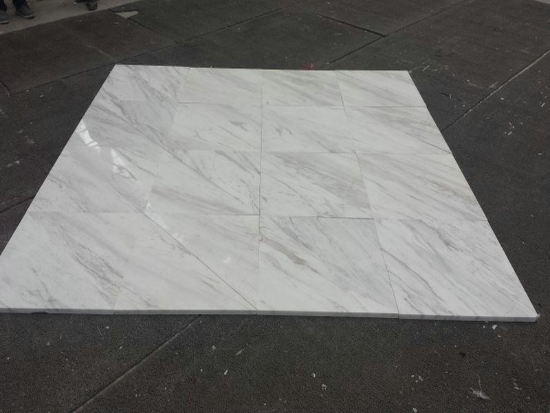 Polished Volakas White Marble Tiles with Top Quality