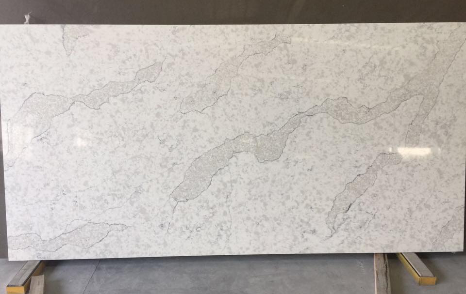 Polished White Artificial Stone Quartz Slabs