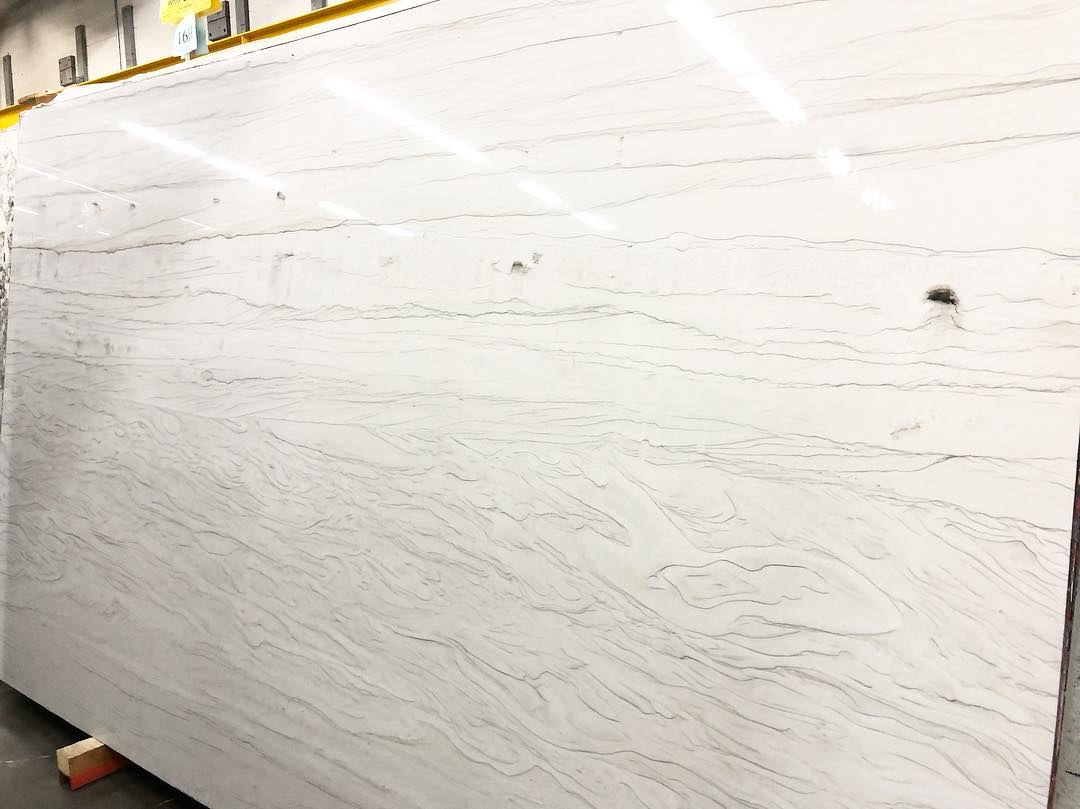 Polished White Bamboo Quartzite Slabs