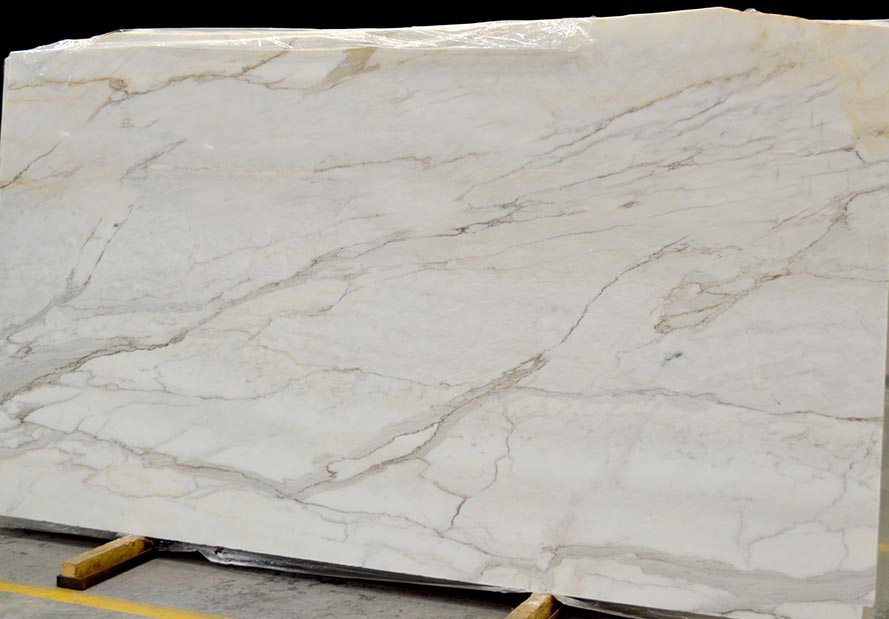 Polished White Calacatta Oro Marble Slabs for Vanity Tops