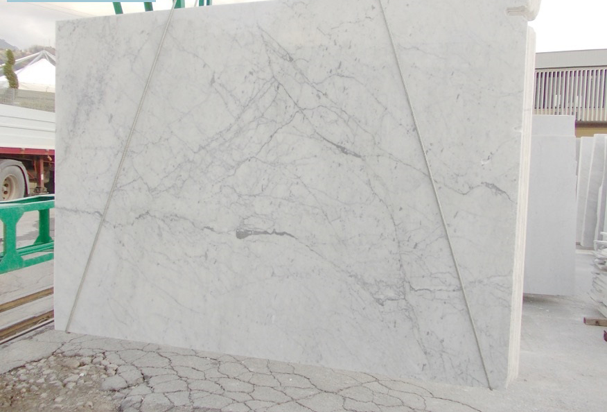 Polished White Carrara C A Grade White Marble Slabs