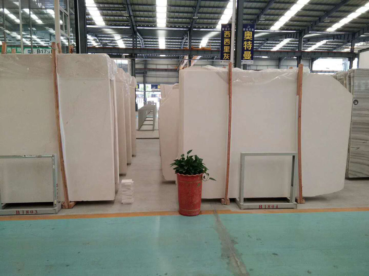 Polished White Limestone Slabs