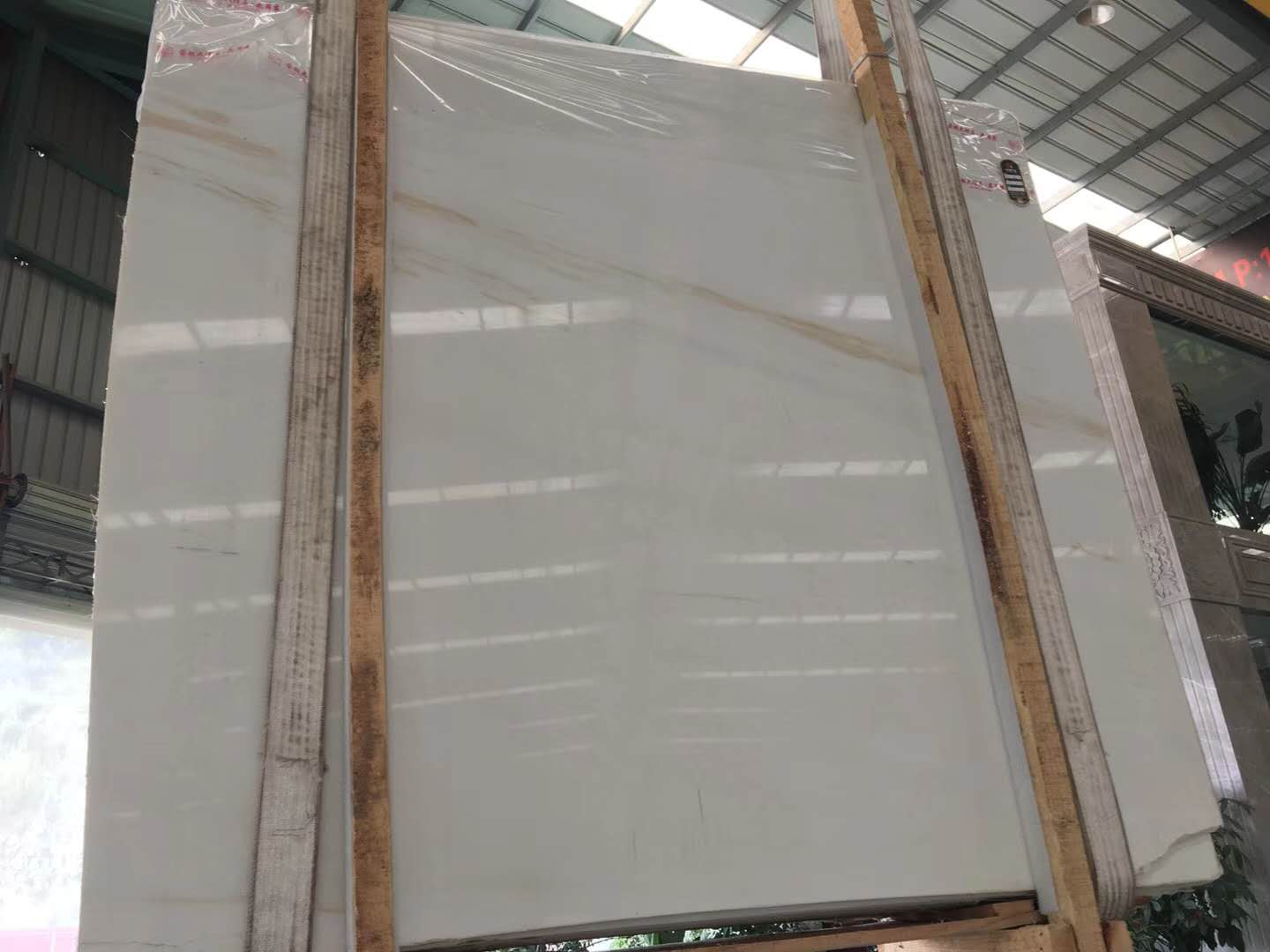 Polished White Marble Slabs Ariston Marble Slabs
