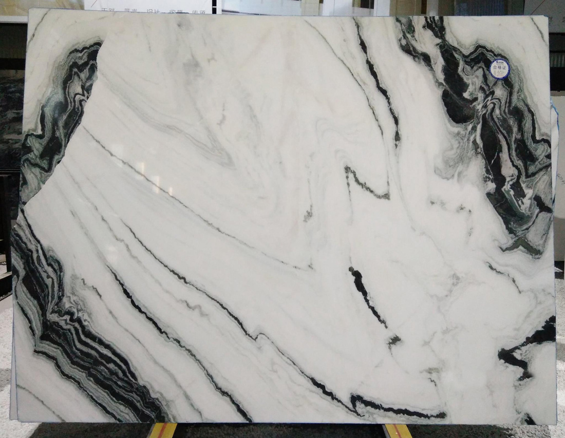 Polished White Marble Slabs Panda White Stone Slab