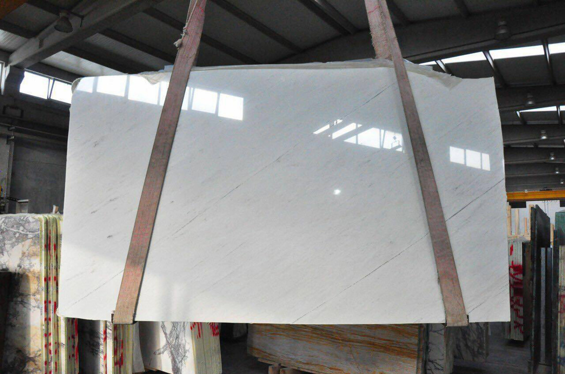 Polished White Marble Slabs Sivec White Slabs