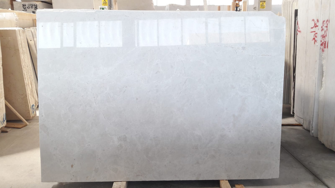 Polished White Marble Slabs Vanilla White Slabs