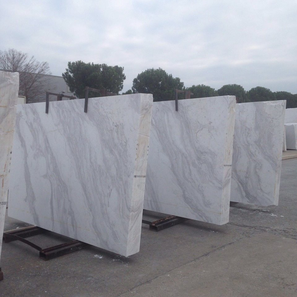 Polished White Marble Slabs Volakas Classic Slabs