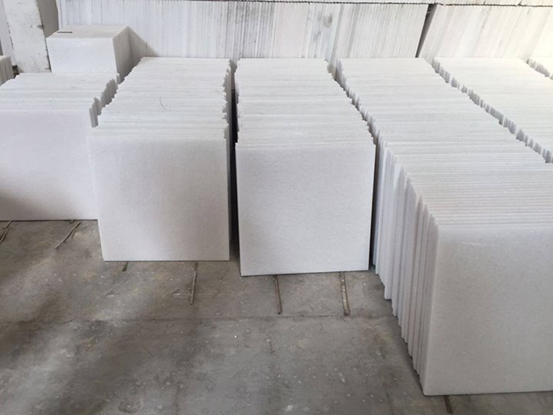 Polished White Marble Tiles Pure White Tiles
