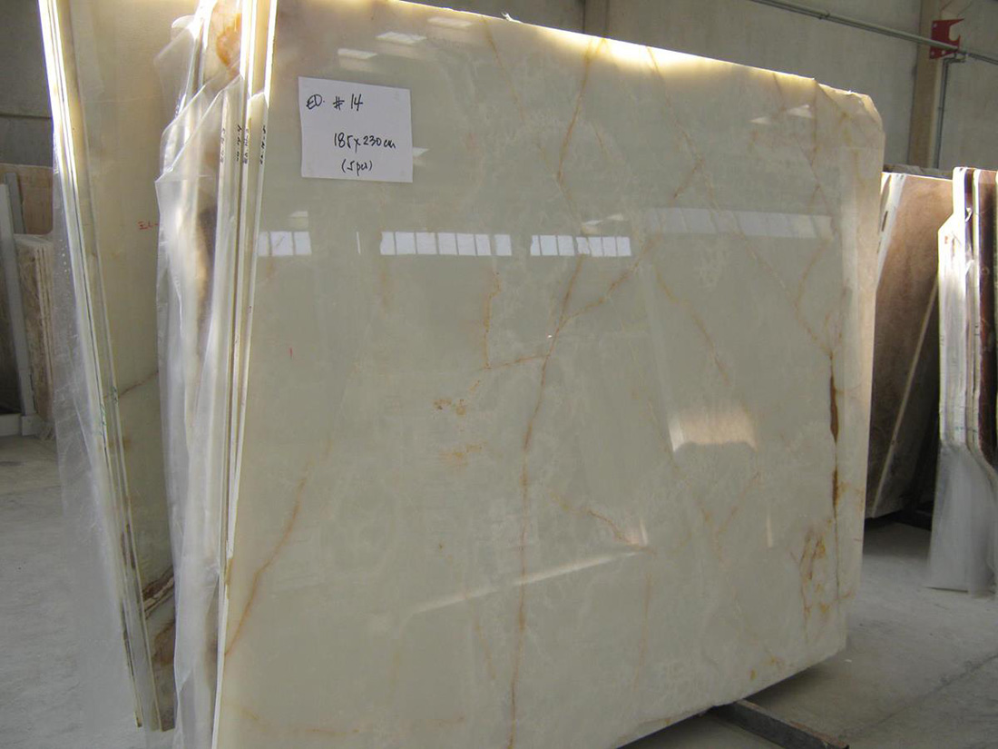 Polished White Onyx Slabs with High Quality