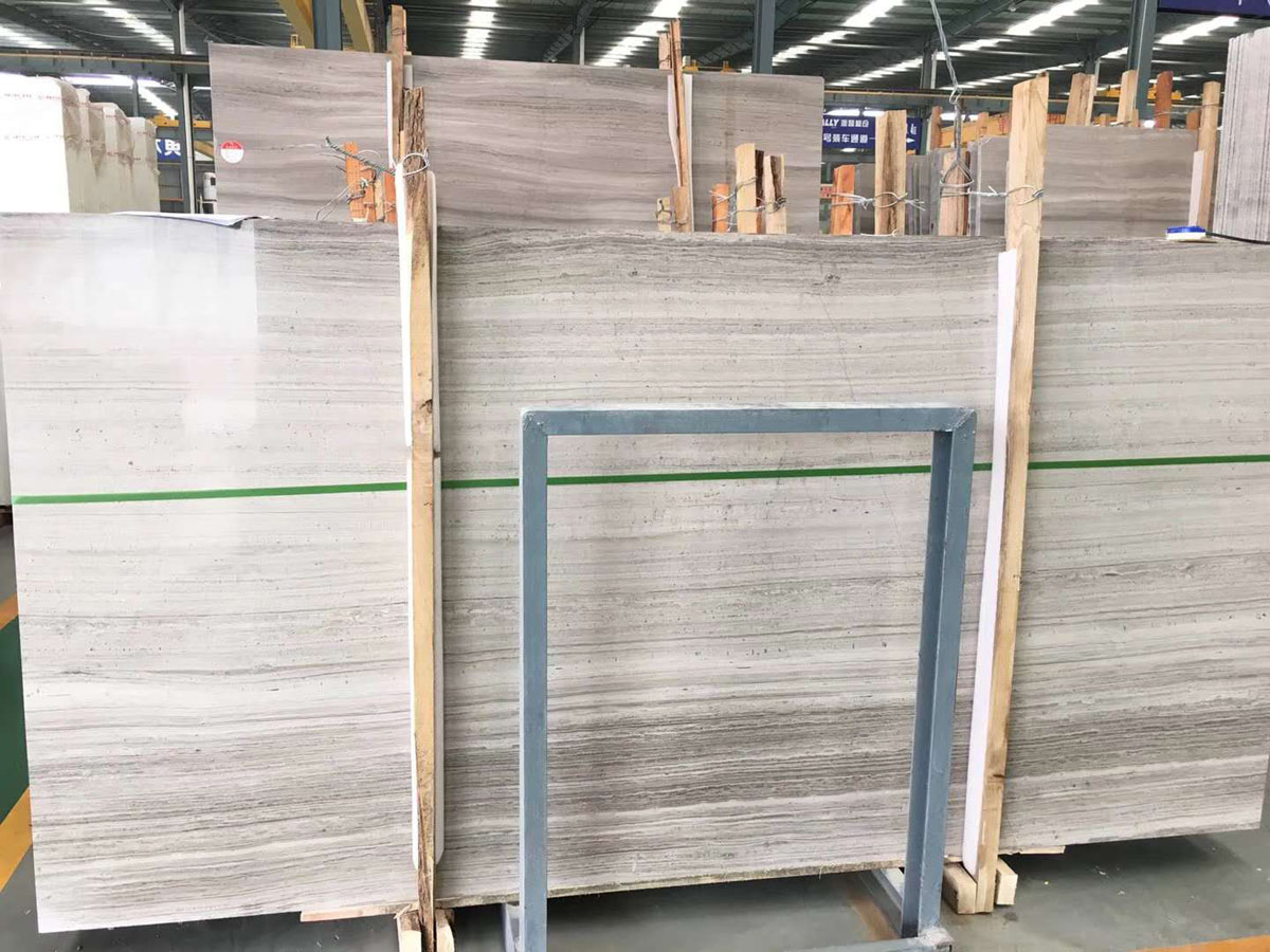 Polished Wooden Marble Slabs Tiles