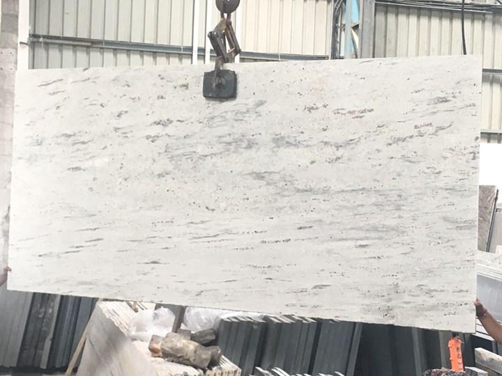 Polka White Granite Slabs Polished Granite from India