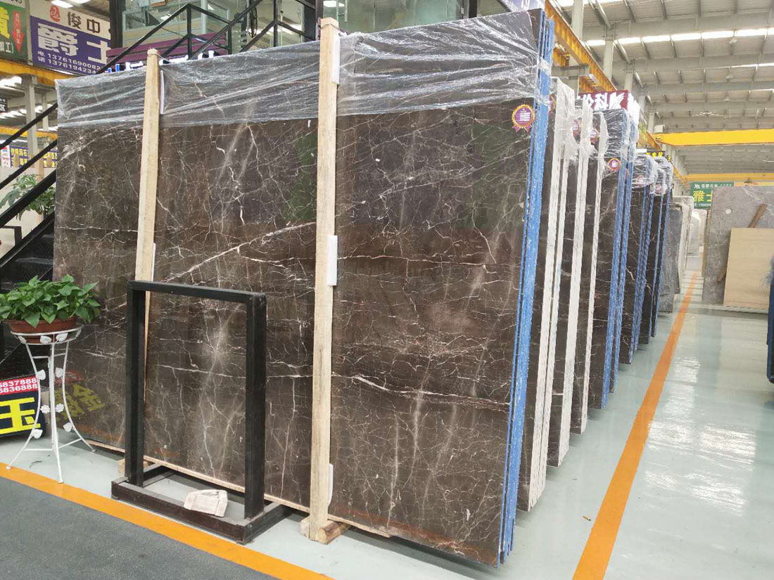 Portor Gold Marble Slabs Polished Brown Marble Slabs