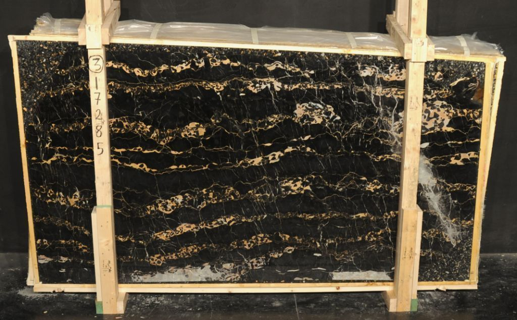Portoro Golden and Black Marble Slabs Italian Polished Marble Slabs
