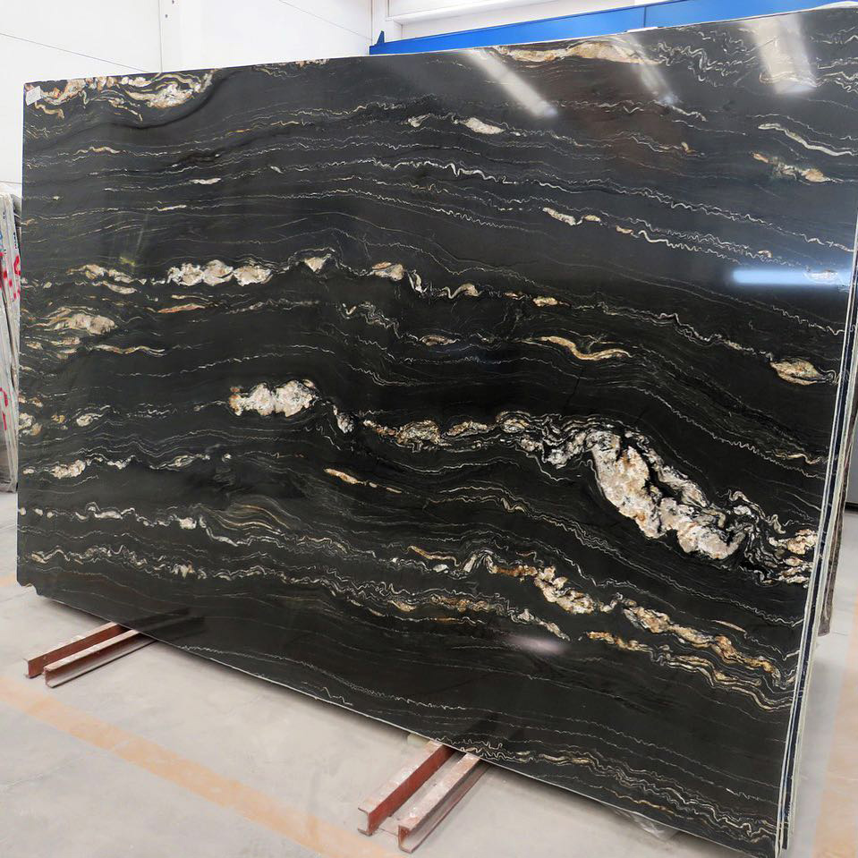 Portoro Quartzite Slabs Polished Black Quartzite Slabs