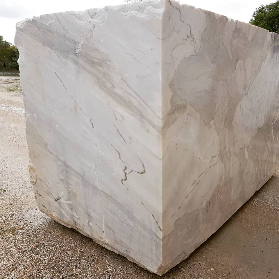 Portugal Big Block Calacatta Marble White Natural Blocks