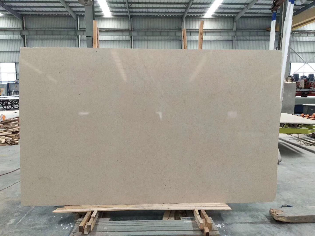 Portugal Limestone Polished Limestone Beige Slabs