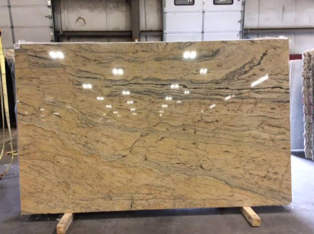 Prada Gold Granite Polished Yellow Granite Slabs