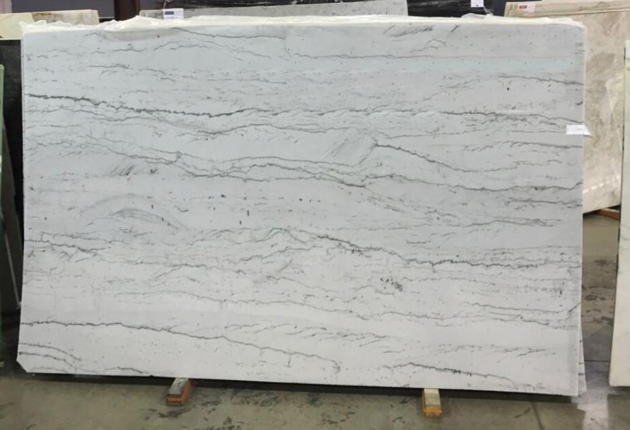 Premium Ocean Pearl Quartzite Stone Slabs White Quartzite Slabs