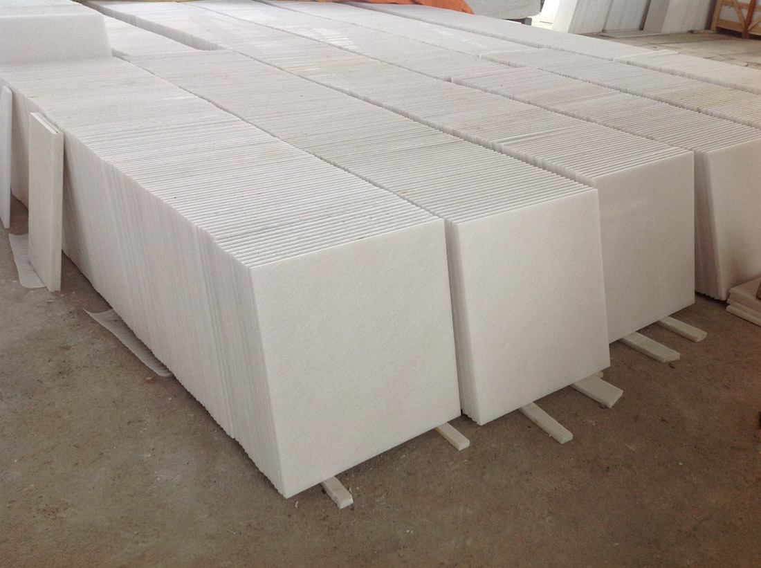 Pure Crystal White Marble Tiles from Vietnam