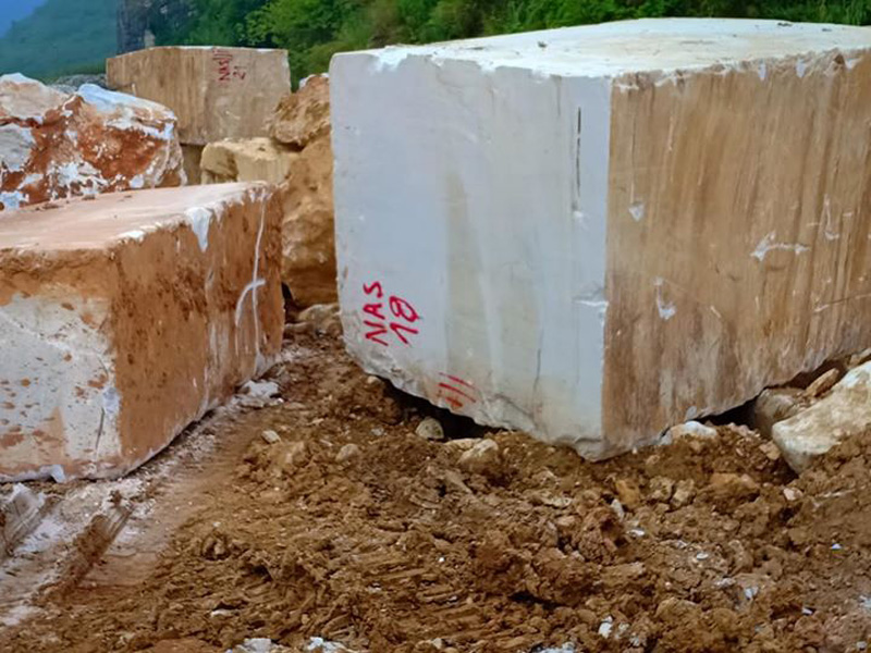 Pure Snow White Marble Blocks White Natural Stone Blocks