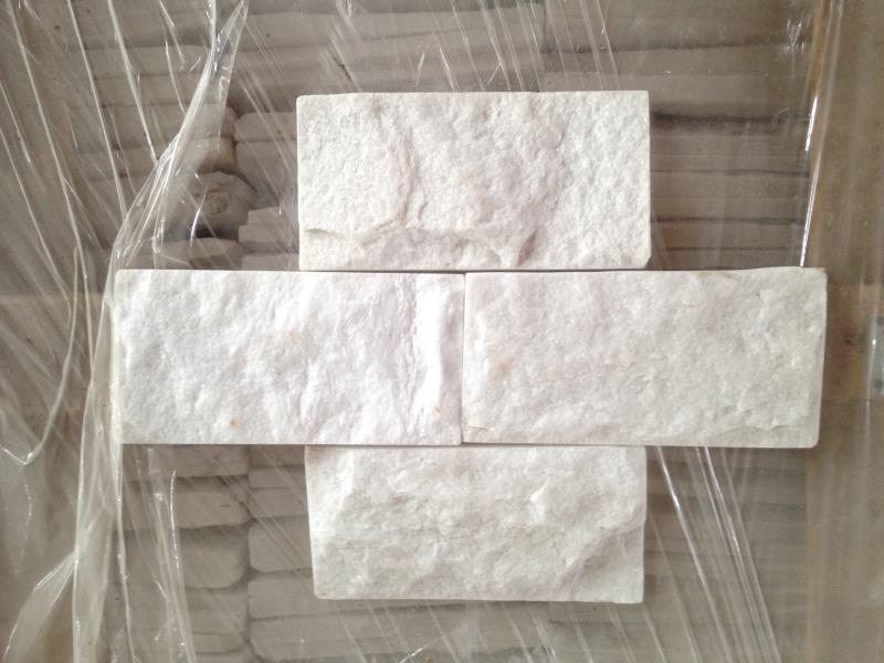 Pure Snow White Split Surface Marble Culture Wall Tiles