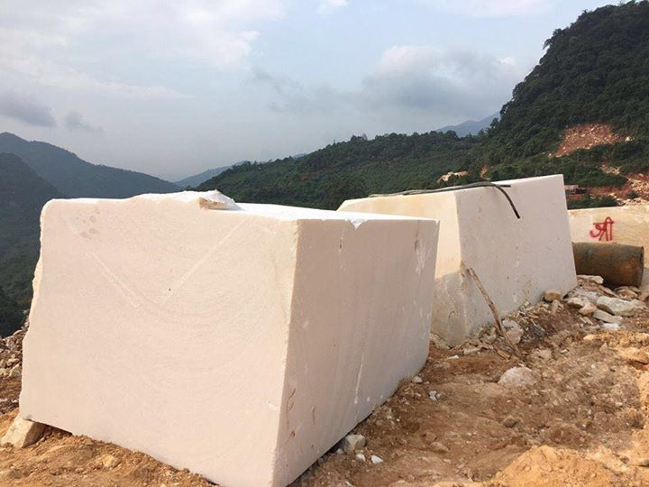 Pure White Marble Natural Stone Blocks from Vietnam