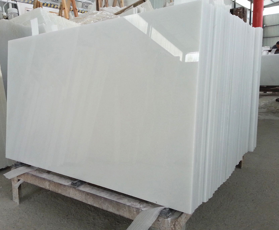 Pure White Marble Slabs Polished White Slabs with High Quality