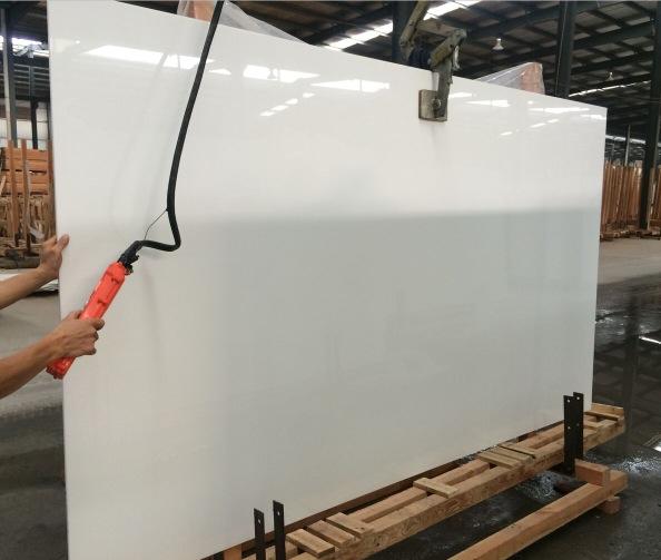 Pure White Nano Crystallized Glass Stones Slabs