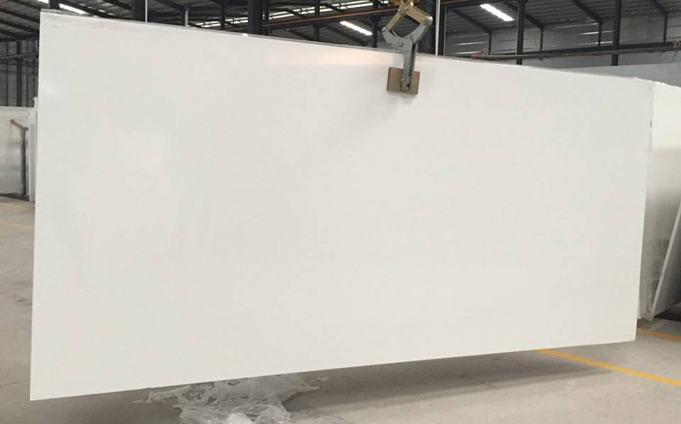 Pure White Quartz Artificial Stone Slabs