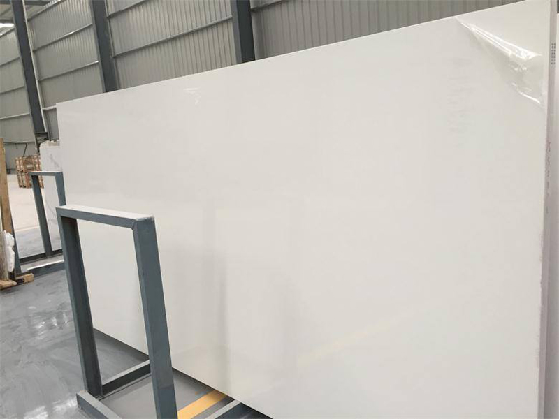 Pure White Quartz Slabs Artificial Stone Slabs