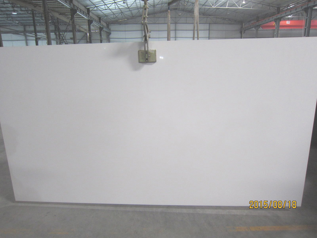 Pure White Quartz Slabs for Export