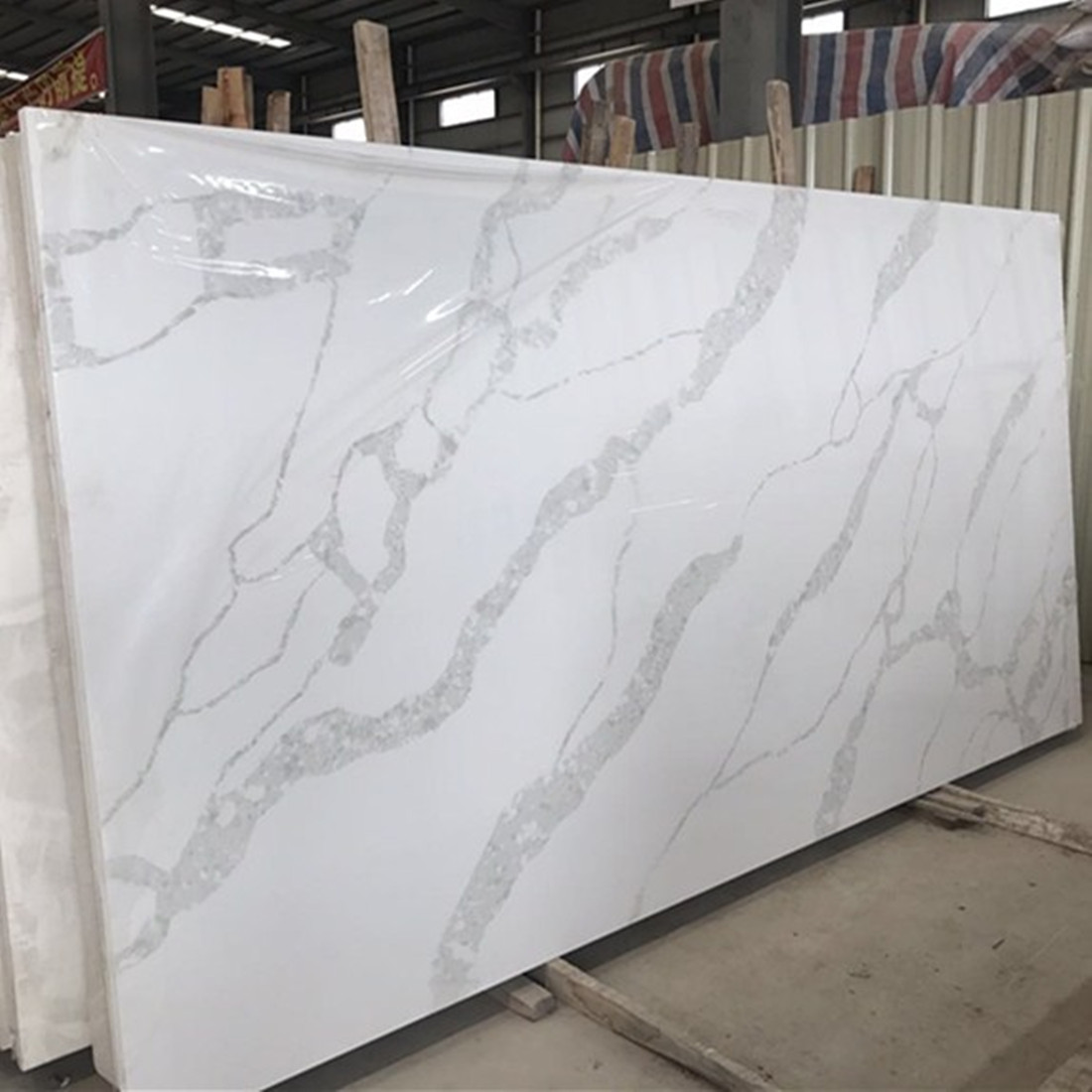 Quartz Slab Polished White Stone Slabs