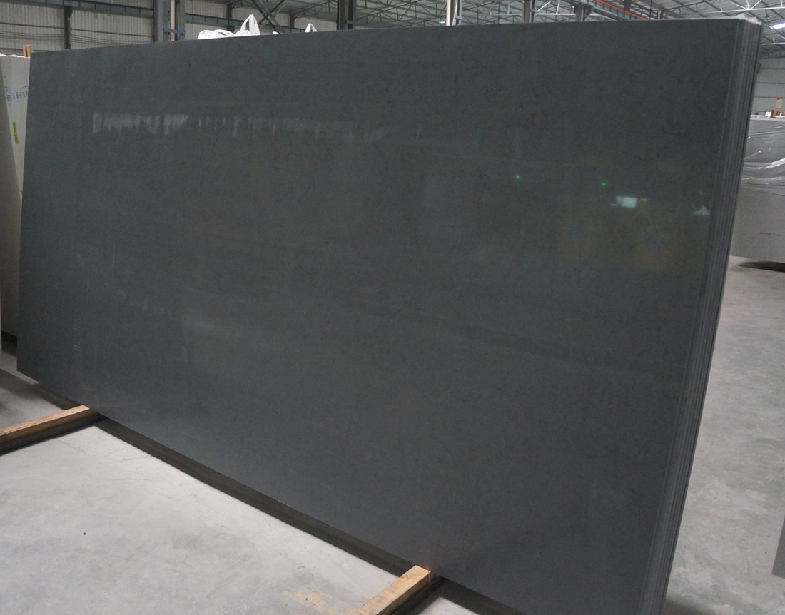 Quartz Stone Slab Black Polished Quartz Slabs