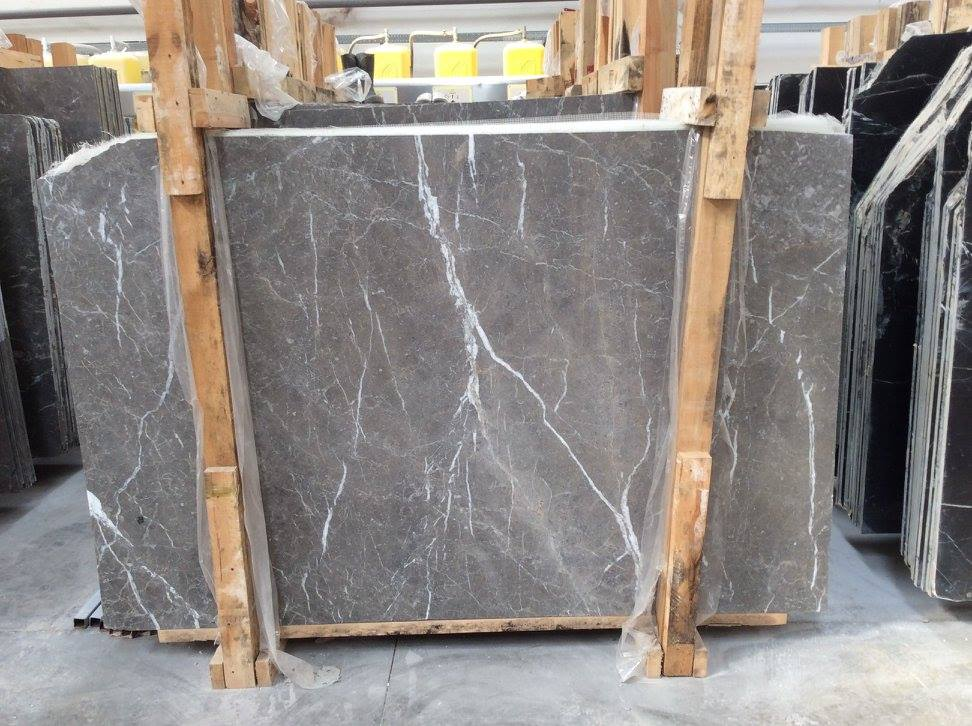 Queen Grey Slabs Turkish Grey Natural Marble Slabs