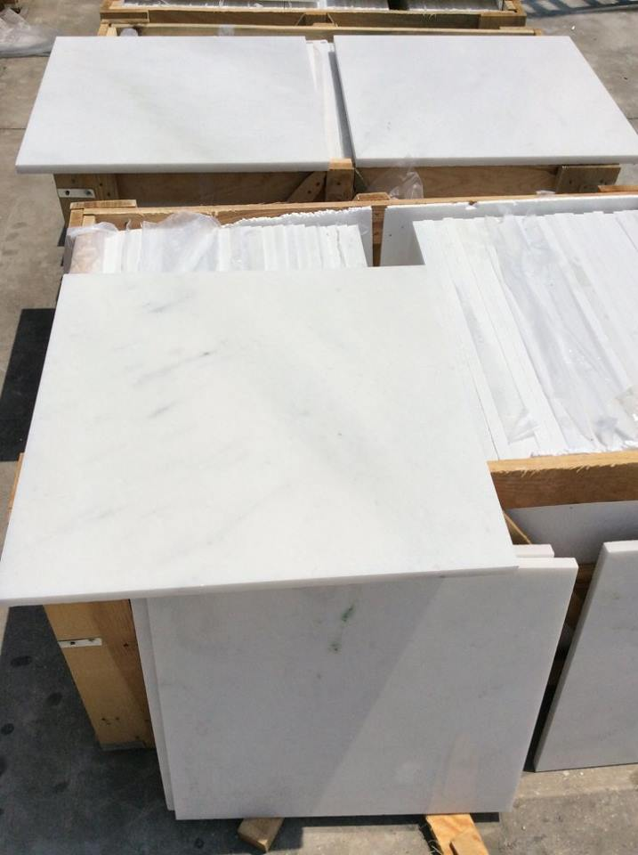 Queen White Tiles Polished White Marble Tiles