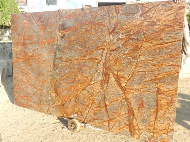 RAINFOREST BIDASAR BROWN Marble in Blocks Slabs Tiles