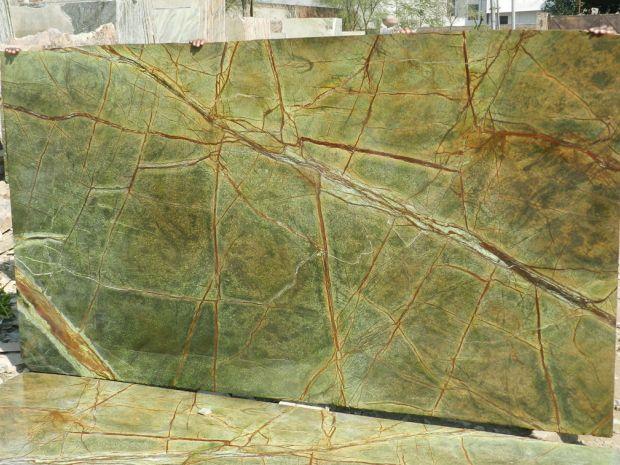 RAINFOREST BIDASAR GREEN Marble in Slabs Tiles