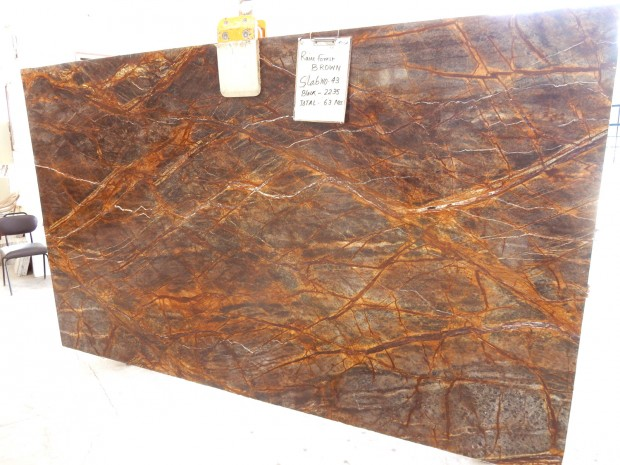 RAIN FOREST BROWN Marble in Slabs