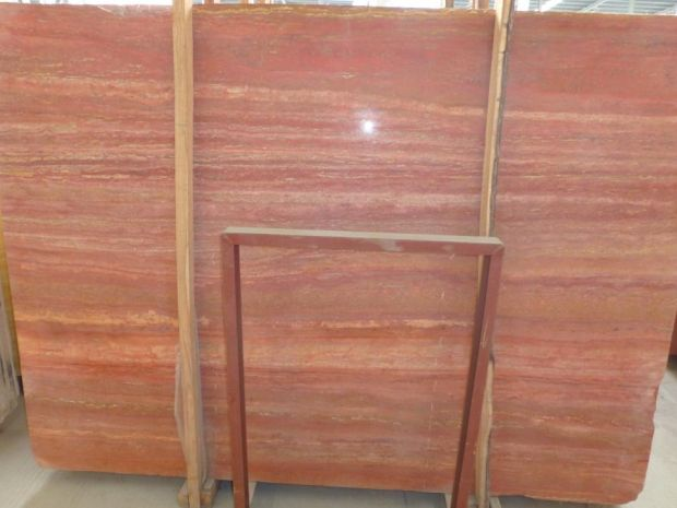 RED TRAVERTINE SLAB Travertine in Slabs