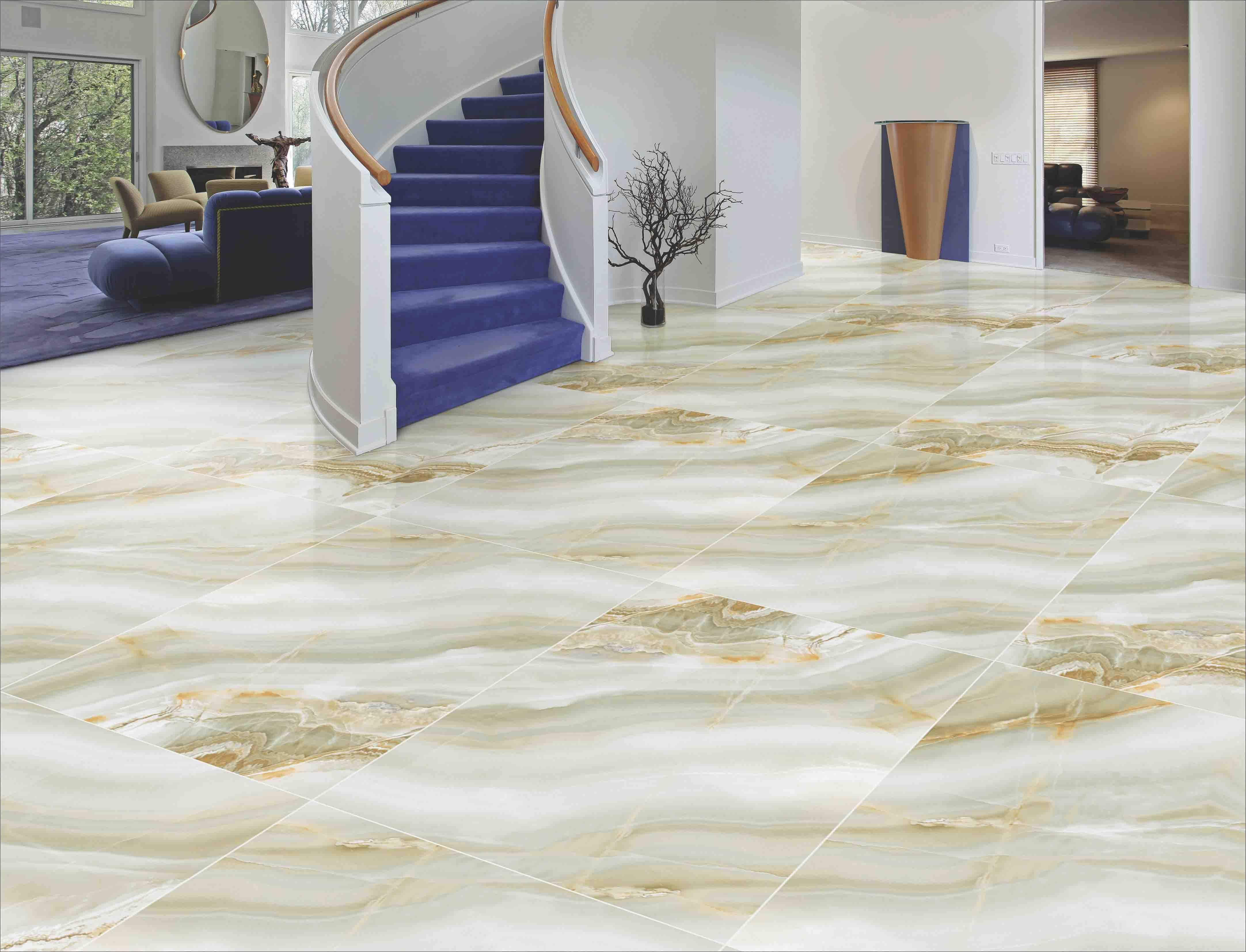 Green Onyx Tiles Floor