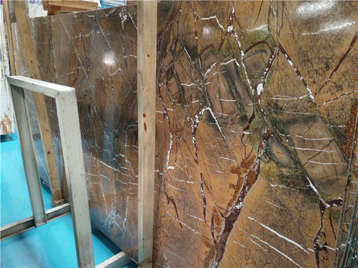 Rain Forest Brown Marble Slabs from Chinese Supplier