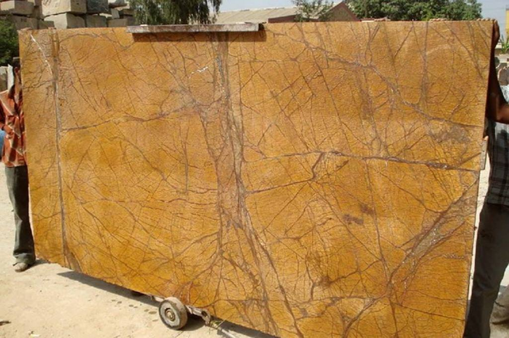 Rain Forest Gold Marble Slabs Yellow Indian Marble Slabs