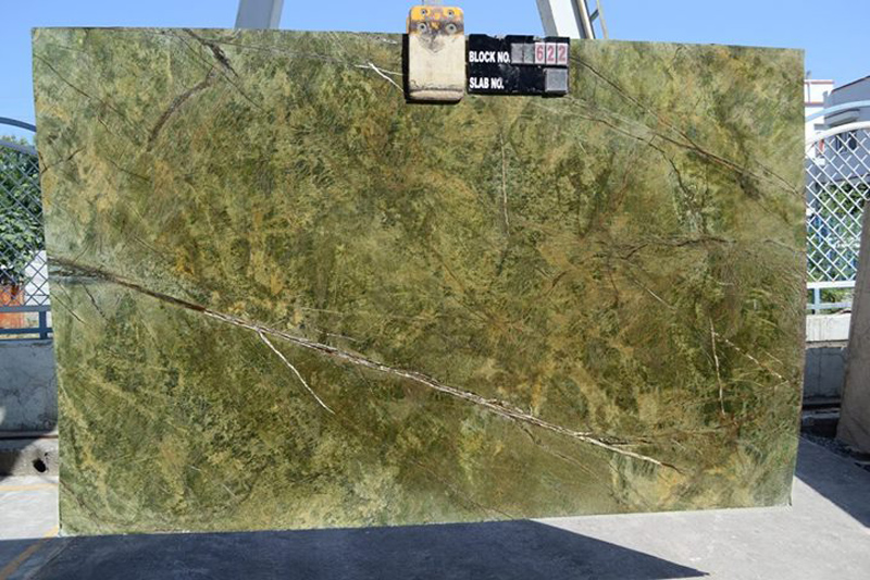 Rain Forest Green Marble Slabs Polished Green Marble Slabs