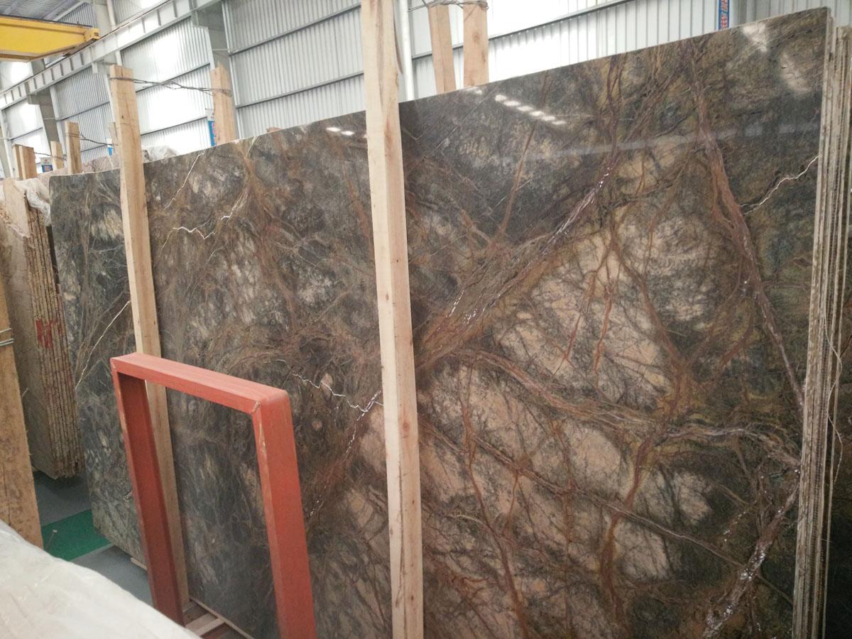 Rain Forest Green Marble Slabs