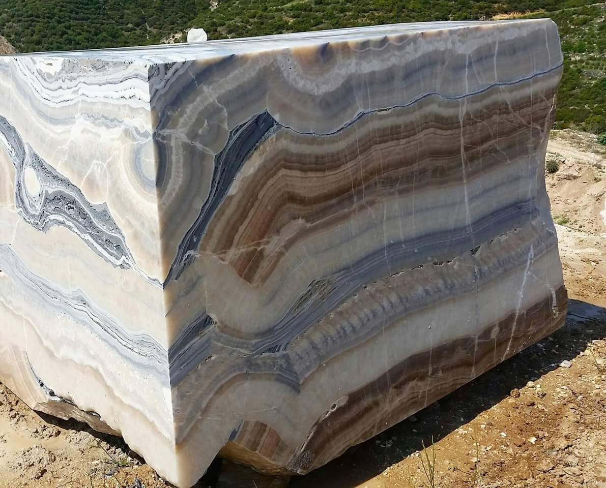 Rainbow Onyx Vein Cut Blocks