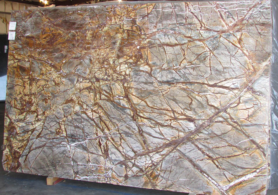 Rainforest Brown Marble Slabs Indian Competitive Marble Stone Slabs