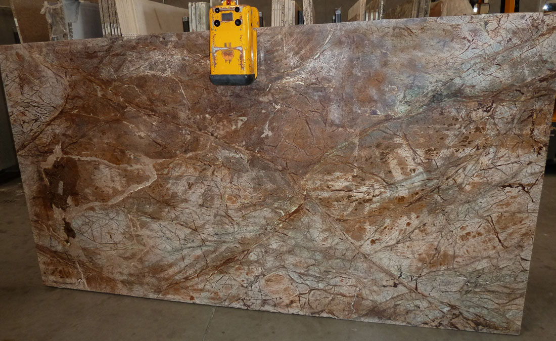 Rainforest Brown Marble Slabs Indian Polished Brown Stone Slabs