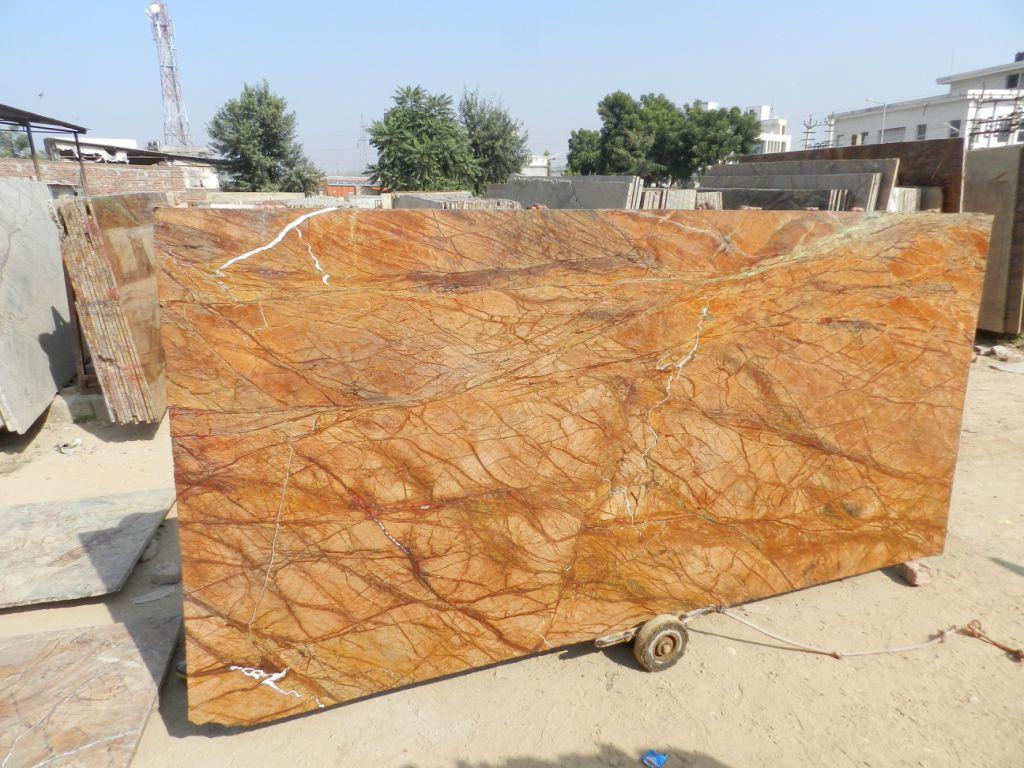 Rainforest Golden 2cm Marble Polished Slabs